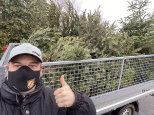 Weihnachtsbaumsammlung mit Förderverein der Freiwilligen Feuerwehr Beckedorf-Metzendorf